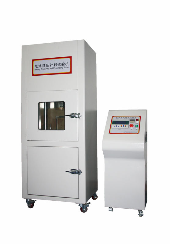 IEC 62133 PLC Hydraulic Drive Control Lithium Ion Battery Testing Equipment Battery Crush Testing Equipment