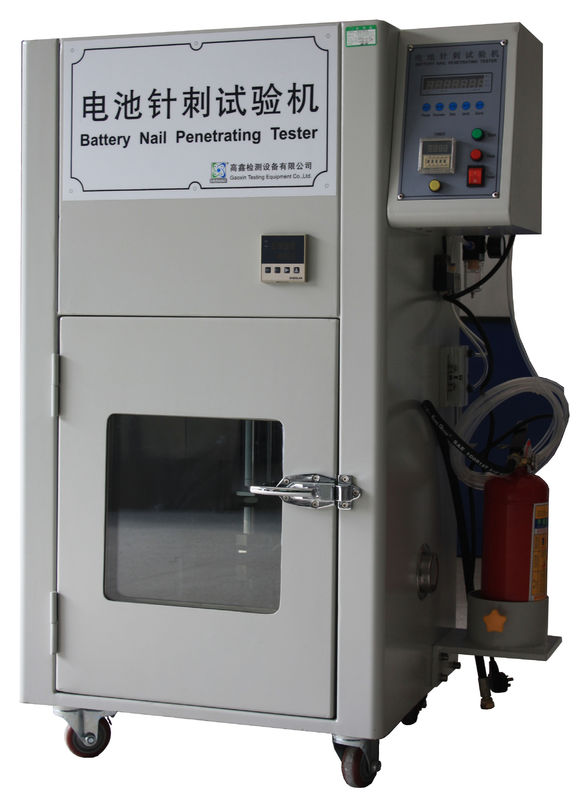 Lithium Ion Battery Testing Equipment , Battery Nail Penetration Puncture Test Chamber for UL 2054